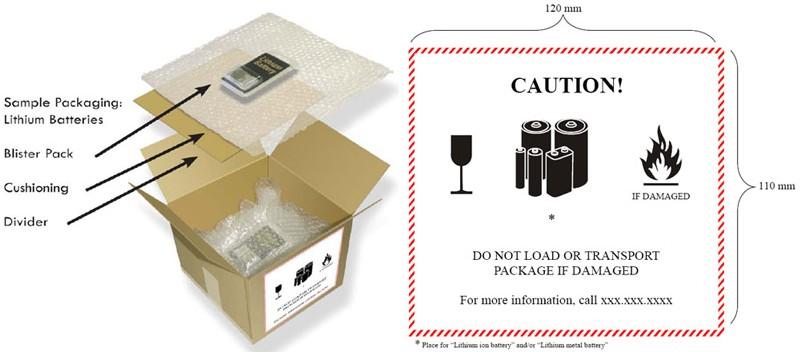 对于锂电池安装在设备中运输的情况,当单个包装中不超过四个电池芯或图片